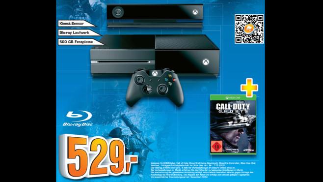 Microsoft Xbox One 500GB + Call of Duty: Ghosts ©Saturn