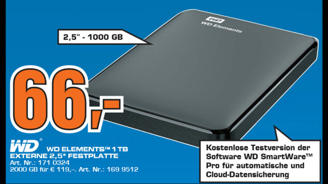 WD Elements Portable 1TB ©Saturn