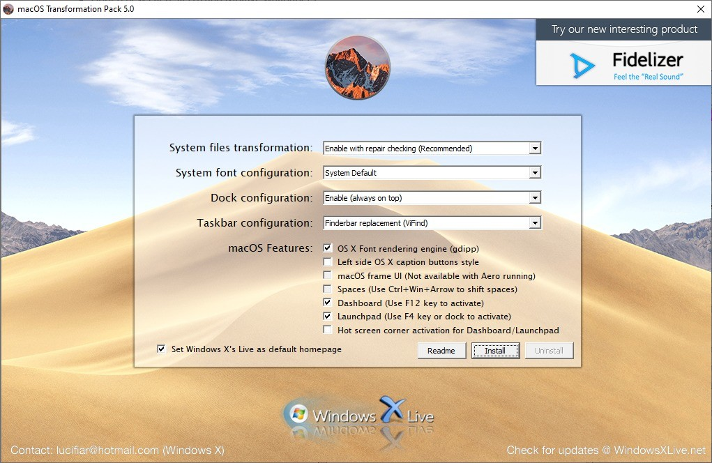 Screenshot 1 - macOS Transformation Pack für Windows
