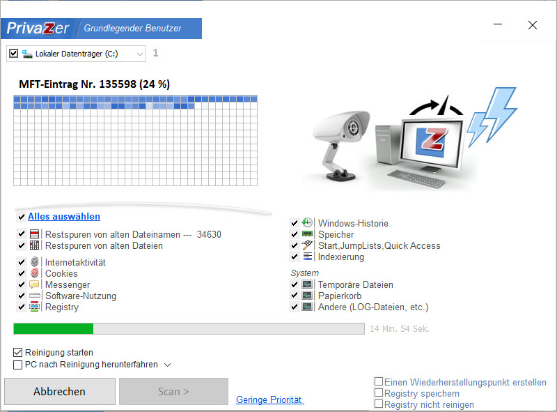 Screenshot 1 - PrivaZer Portable