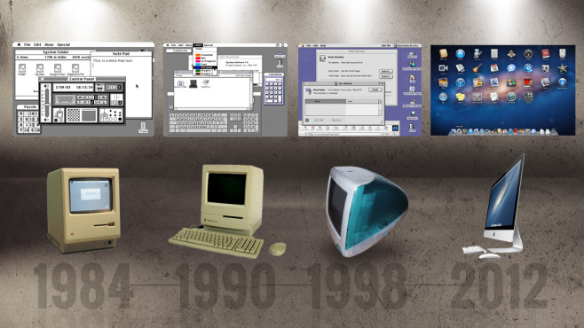 Apple Mac OS Timeline © Apple, COMPUTER BILD