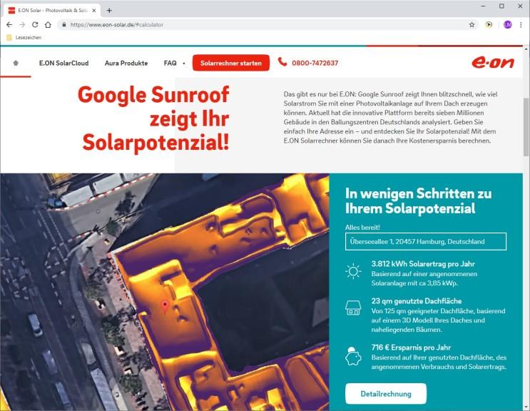 Screenshot 1 - Photovoltaik-Rechner: Stromkosten berechnen mit Solarrechner