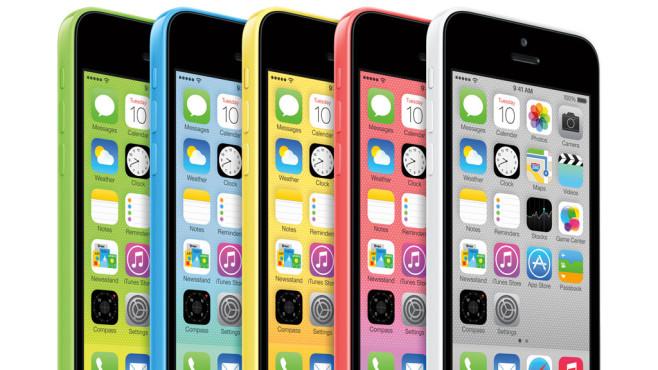 Das iPhone 5C kommt in vielen bunten Farben.©Apple