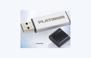 USB-Stick: Platinum Alu 32 GB ©Aldi Süd