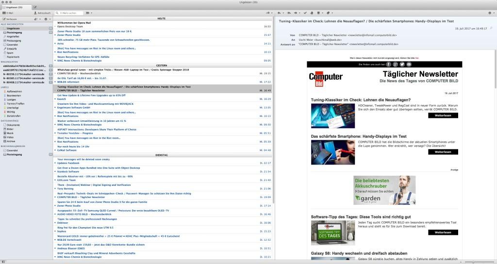 Screenshot 1 - Opera Mail (Mac)