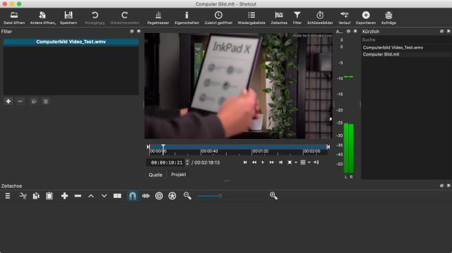 Screenshot 1 - Shotcut (Mac)