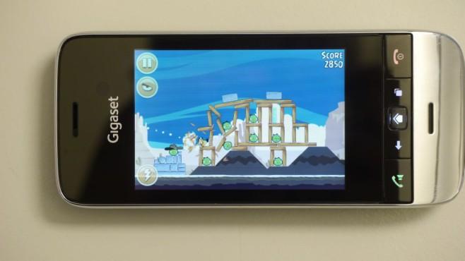 Angry Birds auf Gigaset SL930A©COMPUTER BILD
