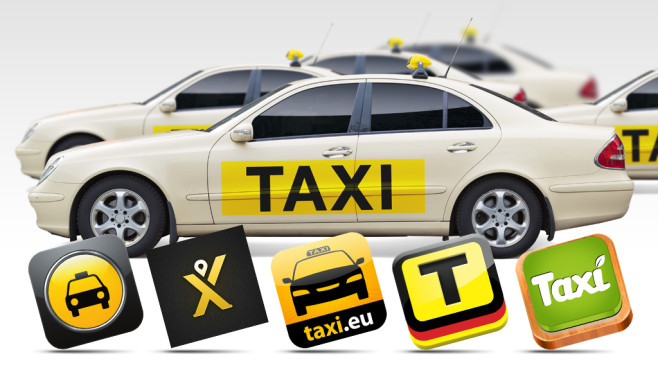 Taxi-Apps © Fotolia.com, Better Tec, Gefos, Taley mobile solutions, fms-datenfunk, Intelligent Apps