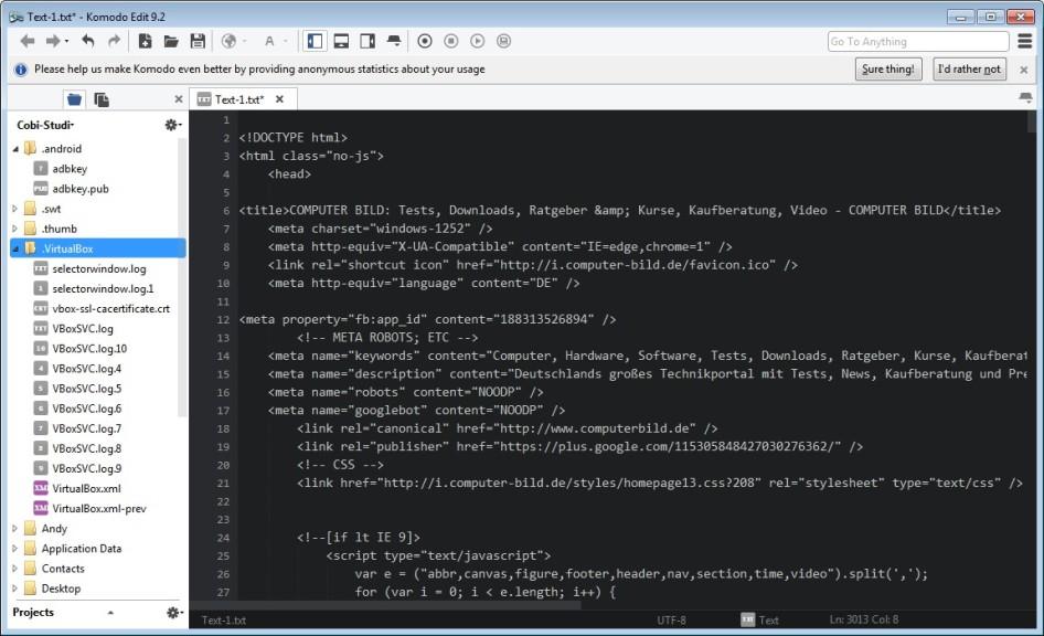 komodo edit for windows 10