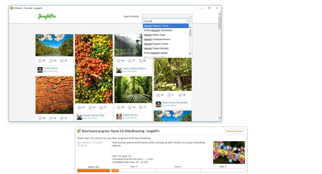 Screenshot 1 - PCMark 8