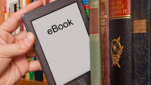 eBook-Reader in Bücherregal © Markus Bormann/Fotolia