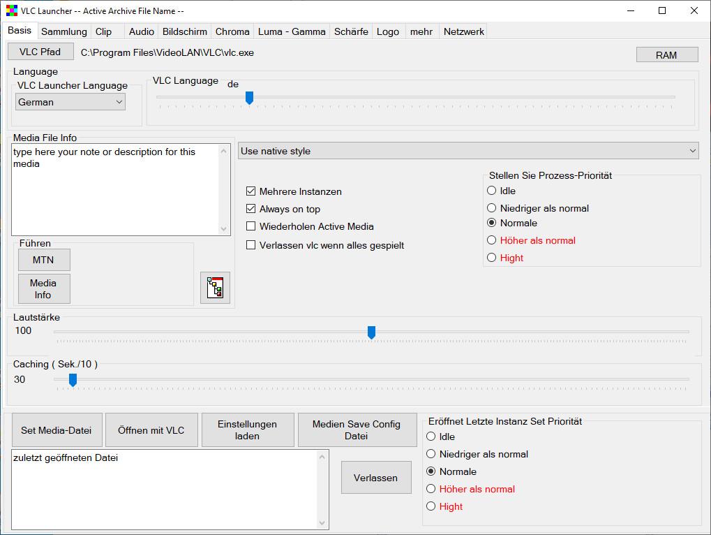 Screenshot 1 - VLC Launcher