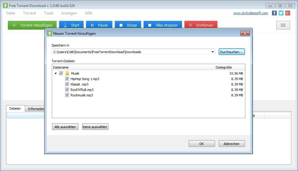 Screenshot 1 - Free Torrent Download