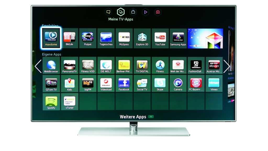 samsung ue40f7090 smart tv im test audio video foto bild. Black Bedroom Furniture Sets. Home Design Ideas