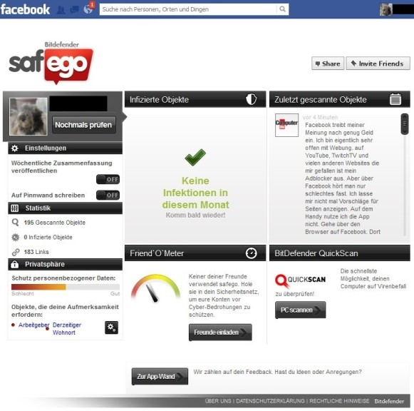 Screenshot 1 - Bitdefender Safego