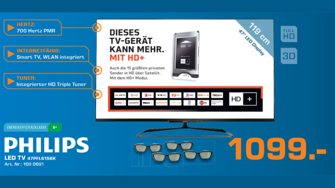 Philips LED TV 47PFL6158K ©Saturn