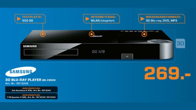 Samsung BD-F 8500 Blu-ray-Player ©Saturn