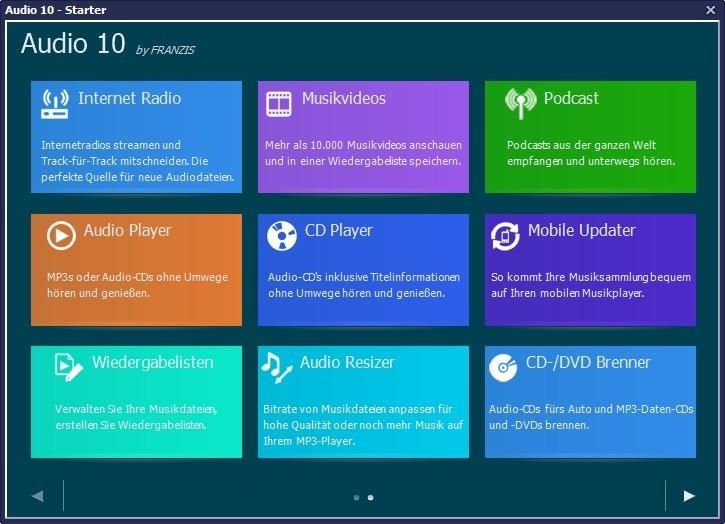 Screenshot 1 - Audio 10 – Kostenlose Vollversion