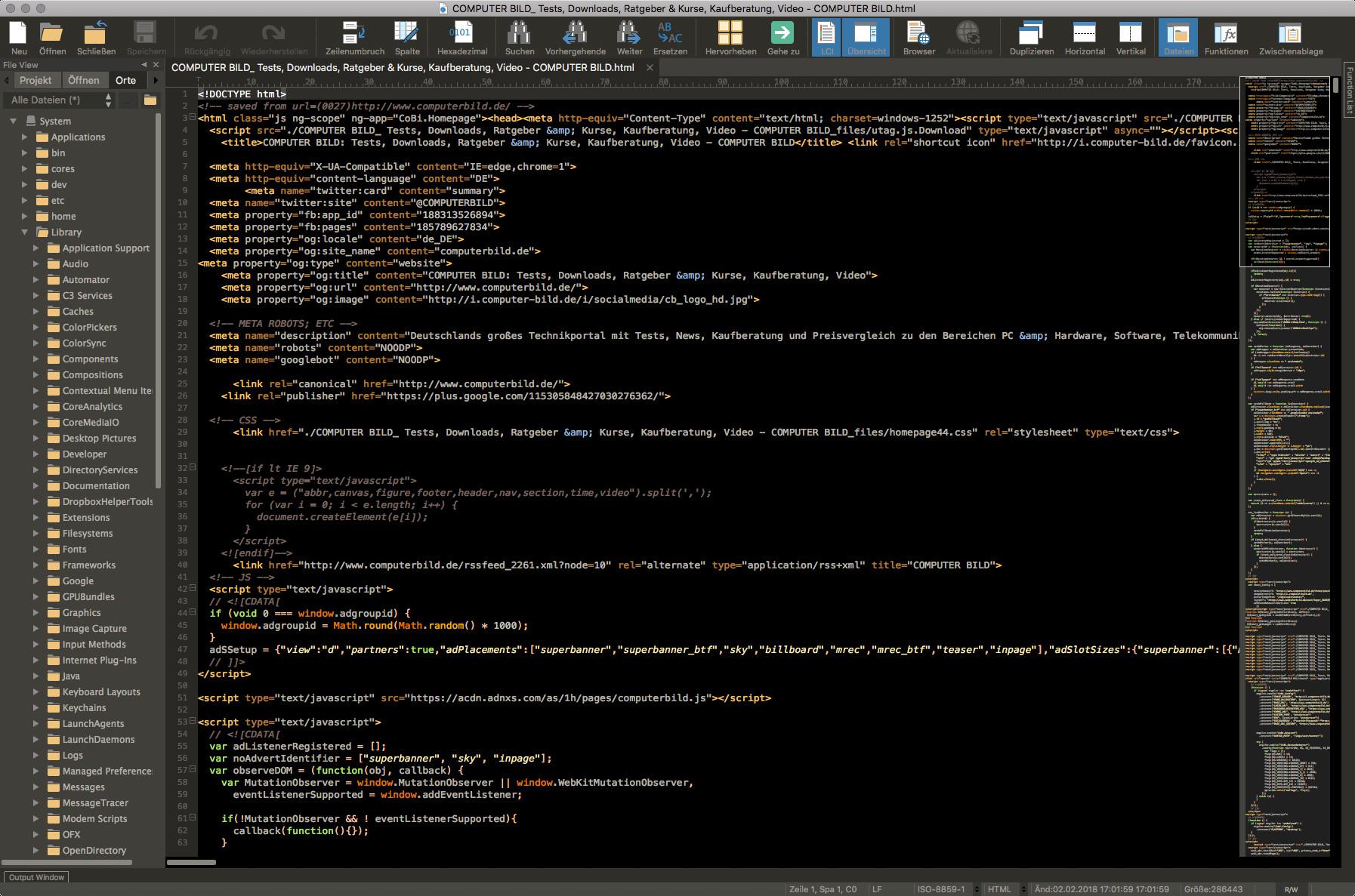 Screenshot 1 - UltraEdit (Mac)