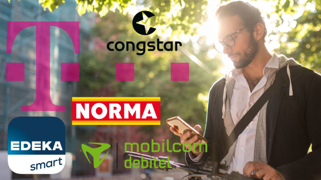 Handytarife im D1-Netz©iStock.com/visualspace, Telekom, Congstar, Norma, Edeka Smart, mobilcom-debitel
