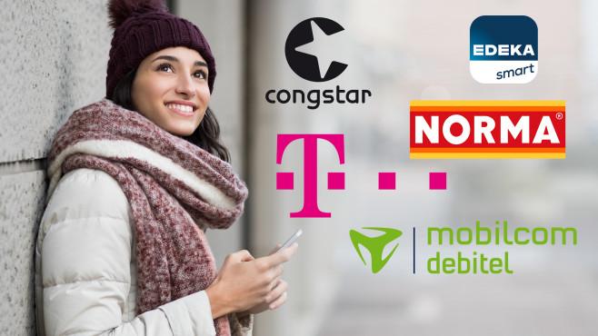 Handytarife im D1-Netz©iStock.com/Ridofranz, Telekom, Congstar, Edeka Smart, Mobilcom-Debitel, Norma