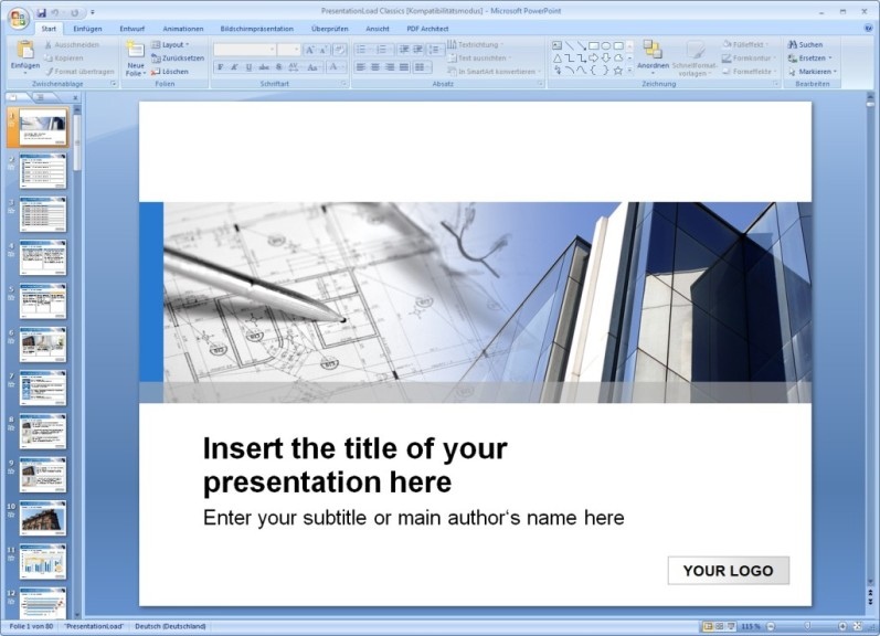Screenshot 1 - 100 PowerPoint-Vorlagen – Kostenlose Vollversion