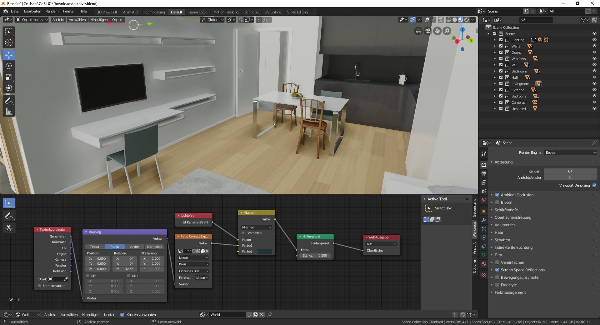 Screenshot 1 - Blender (Linux)