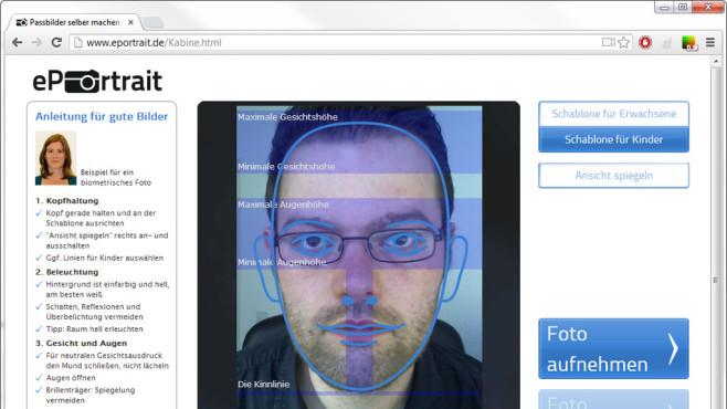 Biometrische Passbilder selbst erstellen ©COMPUTER BILD