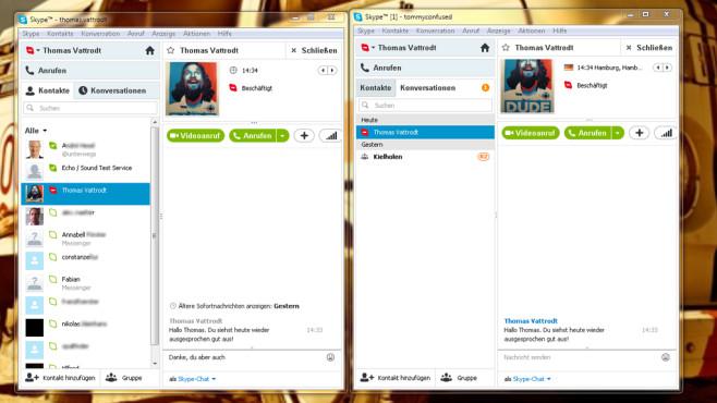 Zwei Skype-Konten gleichzeitig©Microsoft