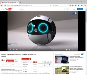 1-Click YouTube Video Download für Firefox
