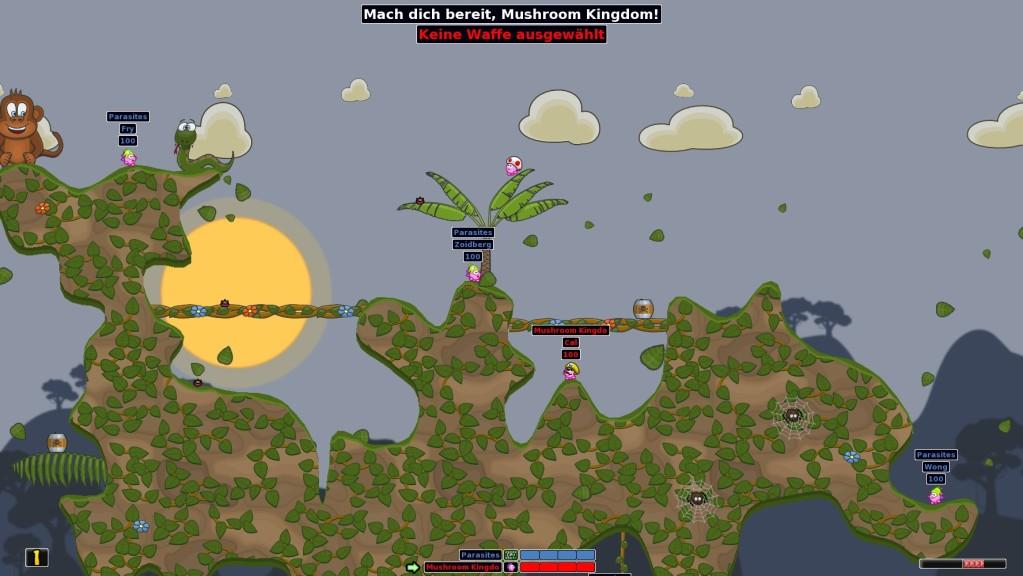 Screenshot 1 - Hedgewars