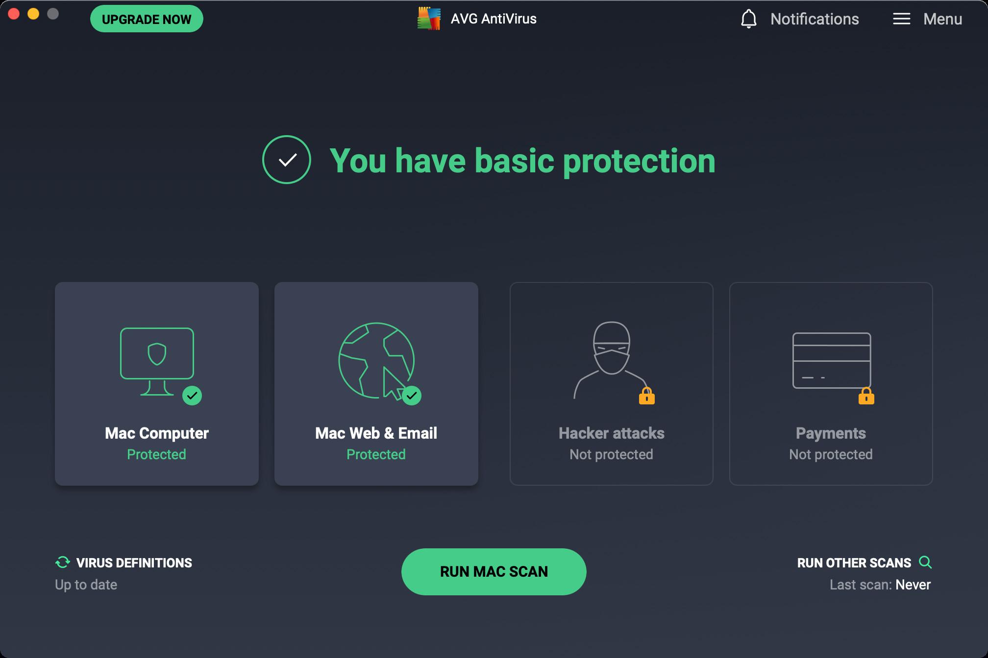Screenshot 1 - AVG AntiVirus Free (Mac)
