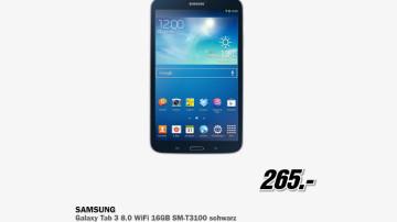 Samsung Galaxy Tab 3 (8.0) 16GB WiFi ©Media Markt