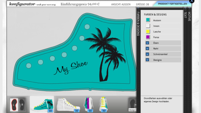 Sneakers selbst designen ©Scurdy