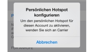 Pers�nlicher Hotspot funktioniert nicht©COMPUTER BILD