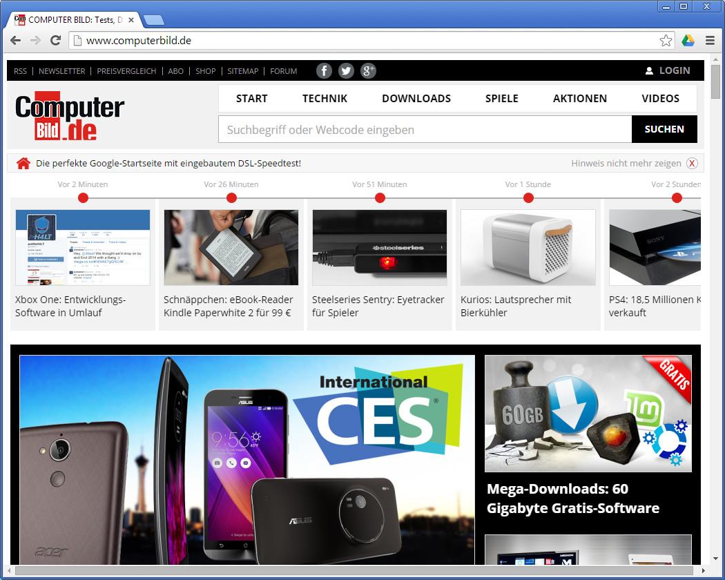 Screenshot 1 - Per Chrome in Google Drive speichern