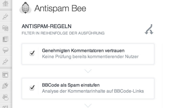 Wordpress Plug-ins: Antispam Bee © Sergej Müller, Wordpress