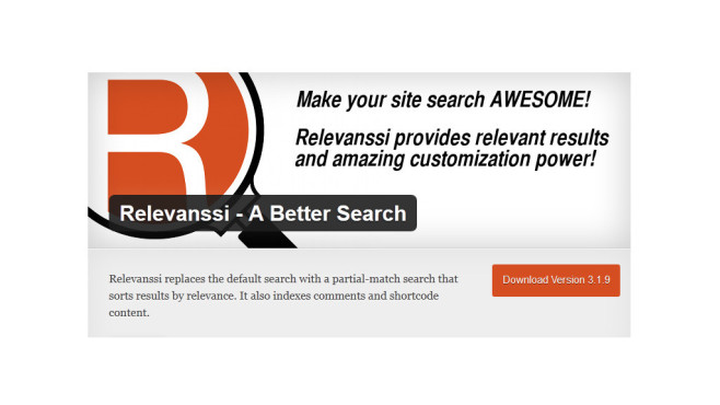 Wordpress Plug-ins: Relevanssi © Mikko Saari, Wordpress