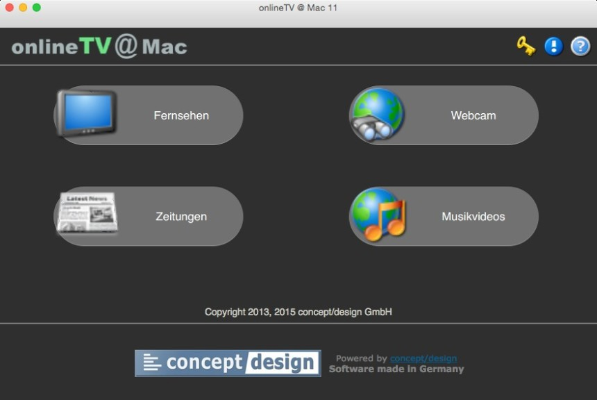 Screenshot 1 - onlineTV (Mac)