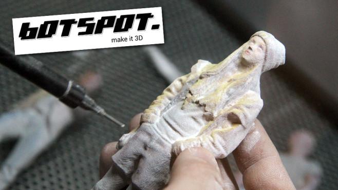 3D-Druck-Store eröffnet in Berlin Einmal Mini-Me, bitte! Im Botstop-Laden in Berlin-Kreuzberg kann man sich eine kleine Miniaturausgabe von sich selbst drucken lassen.©Botspot GmbH Berlin