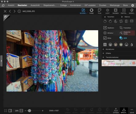 Screenshot 1 - PhotoScape (Mac)