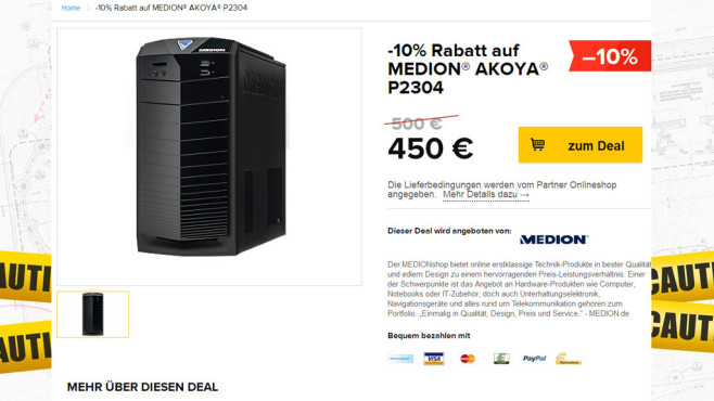 Medion Akoya P2304 © Medion, Black Friday GmbH