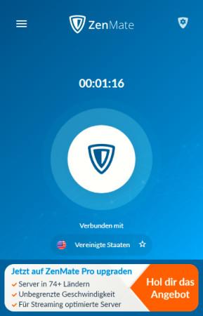 ZenMate Free VPN für Chrome