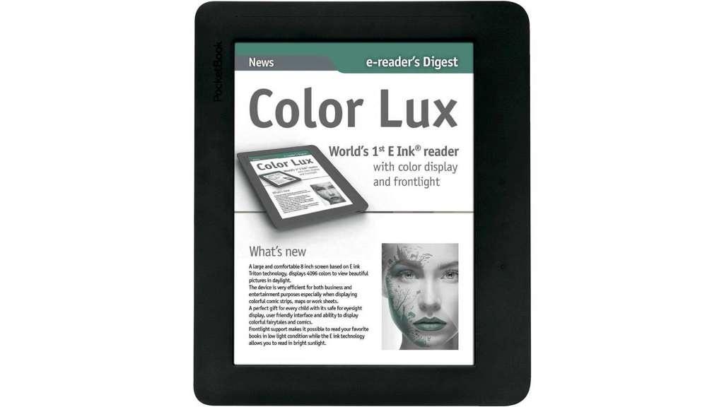 test ebook reader pocketbook color lux mit farbdisplay. Black Bedroom Furniture Sets. Home Design Ideas