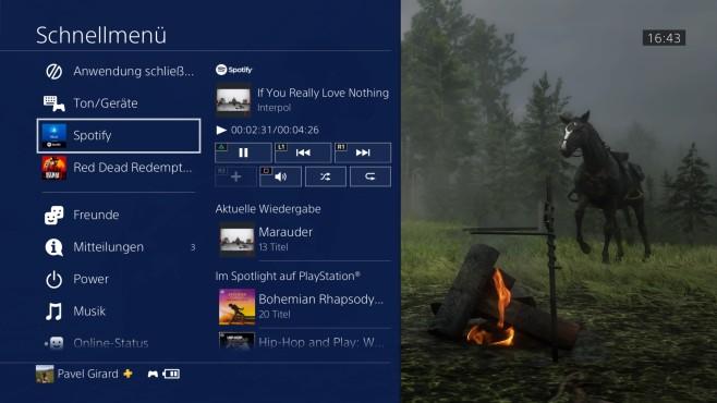 PS4: Musik hören©Sony