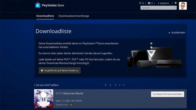 PS4: Remote Download © Sony, COMPUTER BILD SPIELE