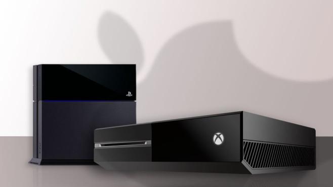 Konkurrenz für PS4 und Xbox One: Apple©Apple / Sony / Microsoft
