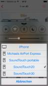 Praxis-Test: Bose SoundTouch bringt Musik in jeden Raum Die SoundTouch-Lautsprecher beherrschen auch Airplay. Damit lässt sich Musik von iPhones und iPads sehr einfach per WLAN auf die Bose-Boxen übertragen.©COMPUTER BILD