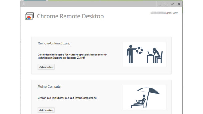 Chrome Remote Desktop © Google