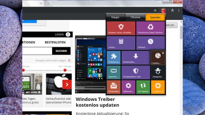 Click & Clean für Chrome ©COMPUTER BILD